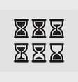set hourglass flat design sand glass icons time vector image vector image