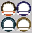 Set of Colorful Modern Emblem Frames vector image vector image