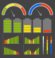 set of different level indicators images vector image vector image