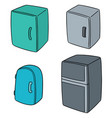 set of refrigerator vector image