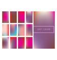 set of soft color gradients background vector image