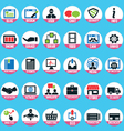 set pixel internet marketing service icons vector image vector image
