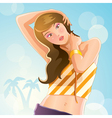 sexy girl at summer vector image vector image