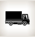 silhouette small covered truck isolated vector image