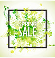 spring sale watercolor banner vector image vector image