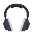 studio music headphones icon flat isolated vector image