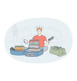 travelling with luggage vacations and journey vector image