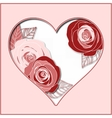 Valentines day abstract paper heart vector image vector image