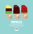 Variety Popsicle in Hand EPS10 vector image