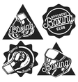 Vintage Boxing emblems vector image