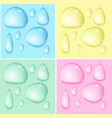 waterdrops on different color backgrounds vector image