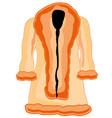 winter feminine fur coat vector image