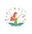 yoga teacher influencer vector image