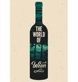 Typographic retro grunge wine poster vector image