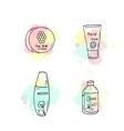 Organic cosmetics cosmetic vector image