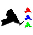 3d map of new york state vector image