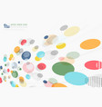 abstract colorful dot design decoration pattern vector image vector image
