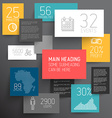 abstract rectangles infographic template vector image vector image