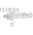 alarm clocks an insight text word cloud concept vector image vector image