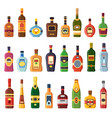 alcohol bottles alcoholic liquor drink bottle vector image