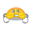 angry orange jelly candy mascot cartoon vector image vector image