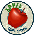 Apple food label on white vector image vector image