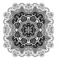 asian culture inspired by monochrome mandala vector image
