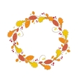 Autumnal wreath Abstract circle frame with vector image vector image
