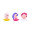 avatars women set vector image