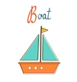 B is for boat vector image