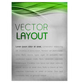 background green layout vector image vector image