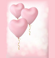 balloons in form a heart vector image vector image