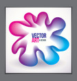 beautiful flower shape with colorful gradient vector image