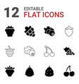 berry icons vector image vector image