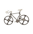 Bicycle flat icon bike side view isolated side