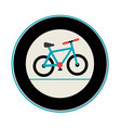 bicycle sport emblem icon vector image vector image