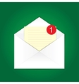 blank e-mail vector image vector image