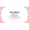 Business woman business card vector image vector image