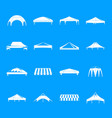 canopy shed overhang icons set simple style vector image vector image
