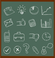 Chalkboard Business Icons vector image vector image