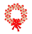 Christmas Wreath of Gift Boxes with Red Ribbon vector image vector image