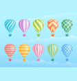 collection colorful hot air balloons vector image