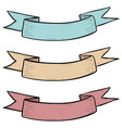 colored ribbon banner hand drawn sketch vector image vector image