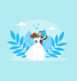 couple newlyweds dancing bride and groom vector image vector image