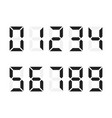digital numbers set digital number font text vector image