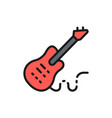 electronic bass guitar music instrument flat vector image