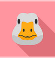goose head icon flat style vector image vector image