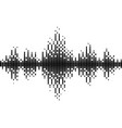 halftone sound wave black and white pattern vector image vector image
