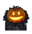 Halloween pumpkin is smiling isolated on white