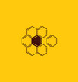 honey comb and beekeeping logo design flower vector image vector image